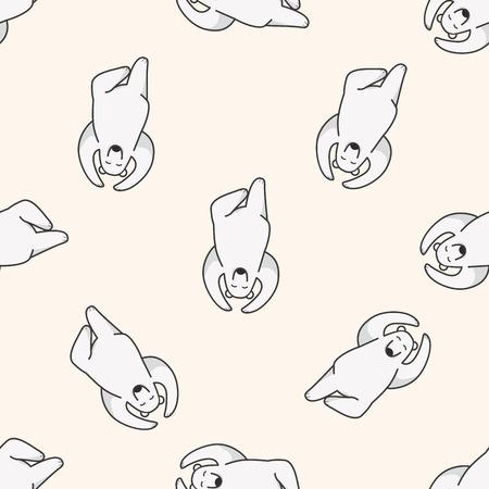 Animal del dibujo animado del oso polar, de dibujos animados patrón de fondo sin fisuras Foto de archivo - 40747364