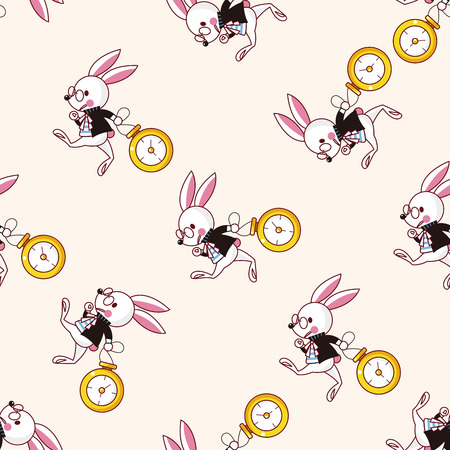 alice in wonderland , cartoon seamless pattern background Illustration