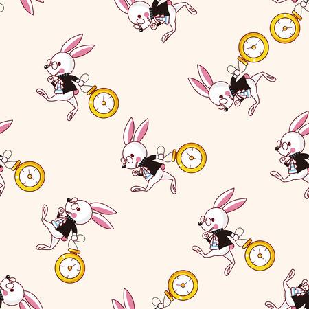alice in wonderland , cartoon seamless pattern background Stock Illustratie