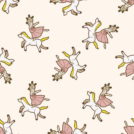 juggler: circus juggler , cartoon seamless pattern background