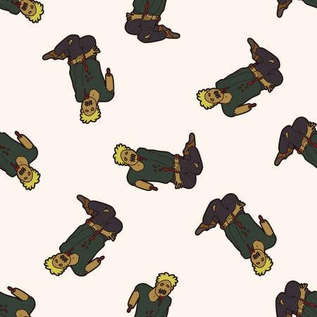 zombie , cartoon seamless pattern background photo