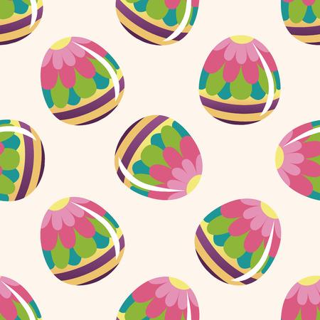 egg cartoon: huevo de Pascua de la pintura, de dibujos animados patr�n de fondo sin fisuras Foto de archivo