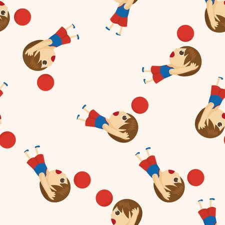 jump shot: basketball player , cartoon seamless pattern background