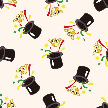 magic , cartoon seamless pattern background photo