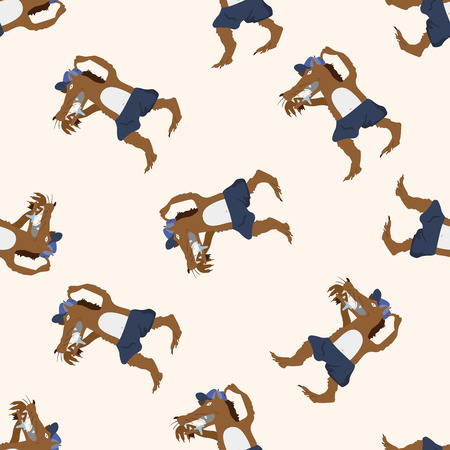 piglets: Wolf in three Little Pigs , cartoon seamless pattern background