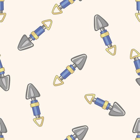 hand trowels: gardening shovel , cartoon seamless pattern background Stock Photo