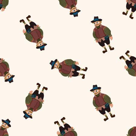 Medieval character cartoon , cartoon seamless pattern background photo
