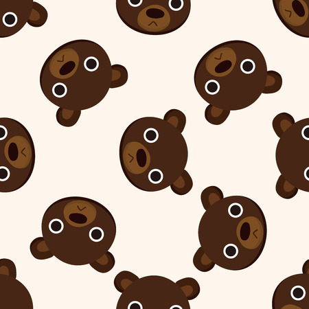 cartoon bear: animal bear cartoon , cartoon seamless pattern background Stock Photo