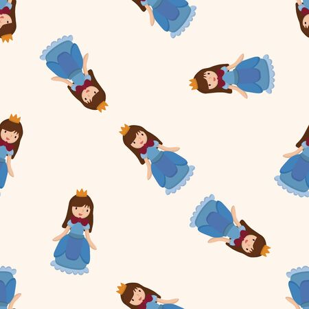 Royal theme princess , cartoon seamless pattern background photo