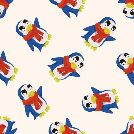 Animales pingüino de la historieta, de la historieta Modelo inconsútil del fondo Foto de archivo - 40742409