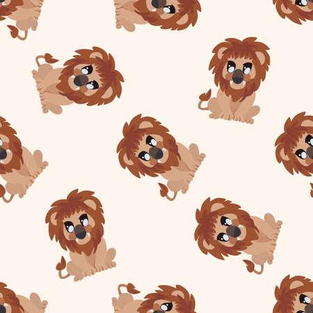 Dibujos animados de animales León, dibujos animados de fondo transparente Foto de archivo - 40742410