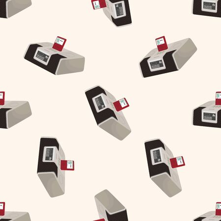 acoustic systems: stereo speakers , cartoon seamless pattern background Stock Photo