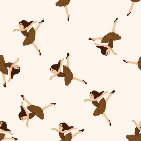 perform: dancer , cartoon seamless pattern background