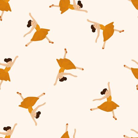 perform performance: dancer , cartoon seamless pattern background