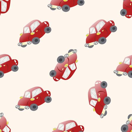 car pattern: transportation car , cartoon seamless pattern background