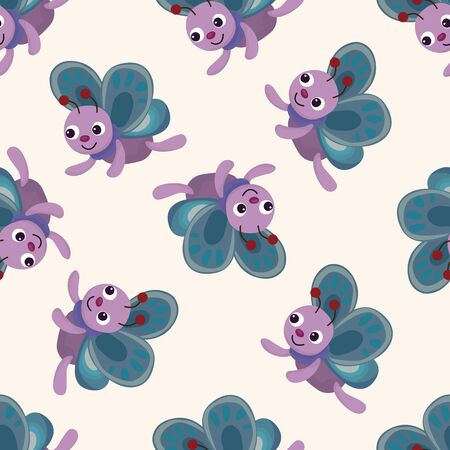 mariposa caricatura: mariposa, de dibujos animados patrón de fondo sin fisuras