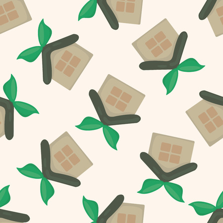 gr: Environmental protection concept ; greenhouses; gr, cartoon seamless pattern background