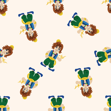 aladin: fairytale Aladdin story , cartoon seamless pattern background Stock Photo