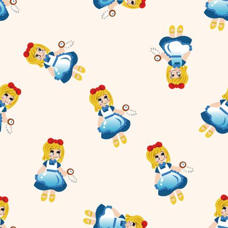 fairytale background: fairytale princess , cartoon seamless pattern background