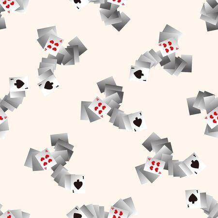 poker card: casino poker card , cartoon seamless pattern background Stock Photo