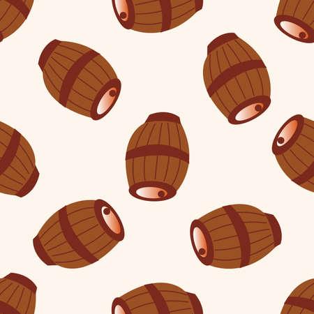 casks: pirate casks , cartoon seamless pattern background