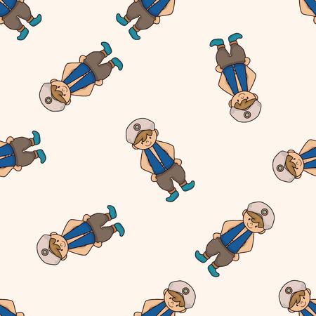 Aladdin prince , cartoon seamless pattern background