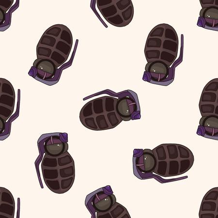 nuclear weapons: bomb , cartoon seamless pattern background Stock Photo