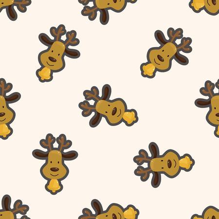 rudolph: Reindeer , cartoon seamless pattern background