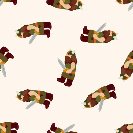 caveman cartoon: caveman , cartoon seamless pattern background Stock Photo