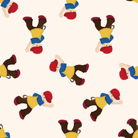 hip hop dancer: hip hop dancer , cartoon seamless pattern background