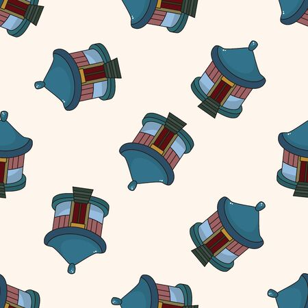 Chinese building , cartoon seamless pattern background photo
