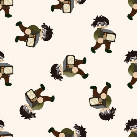 robberies: thief , cartoon seamless pattern background