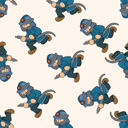 cartoon axe: fireman , cartoon seamless pattern background