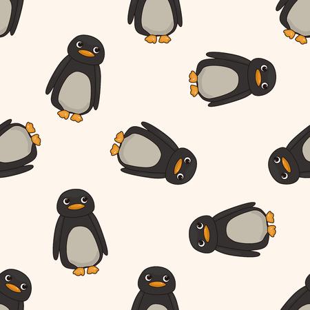 animaux zoo: animaux de bande dessinée de pingouin, bande dessinée seamless fond Banque d'images