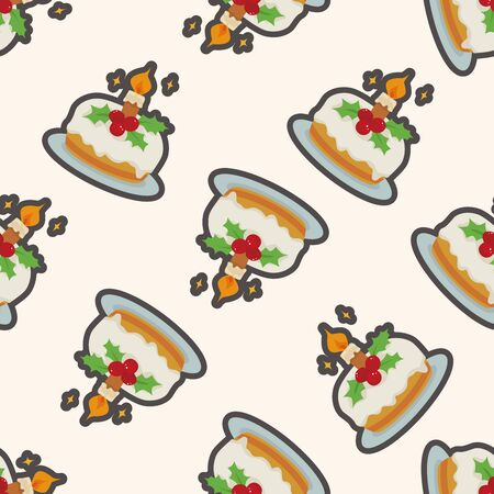 christmas cake: Christmas cake , cartoon seamless pattern background