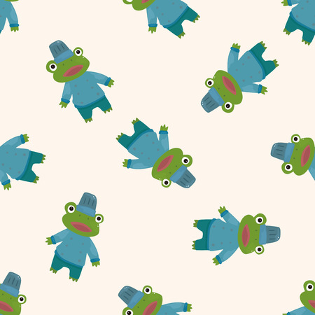 animal frog chef cartoon , cartoon seamless pattern background photo