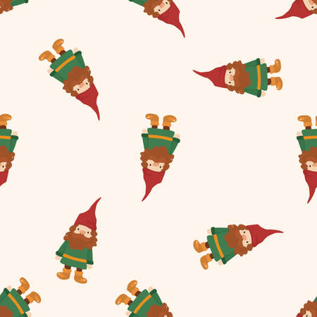 elfs: elf , cartoon seamless pattern background