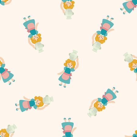 fairytale princess , cartoon seamless pattern background photo