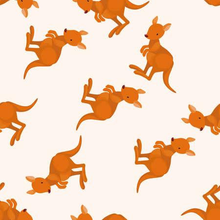Animales kangeroo de dibujos animados, dibujos animados patrón de fondo sin fisuras Foto de archivo - 40725418