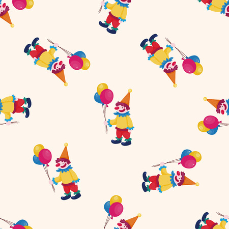 comedian: circus clown , cartoon seamless pattern background