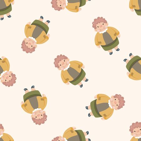 fatty , cartoon seamless pattern background photo