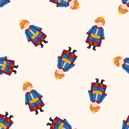 Royal theme prince , cartoon seamless pattern background