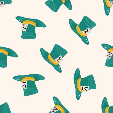 alice: alice in wonderland , cartoon seamless pattern background Stock Photo