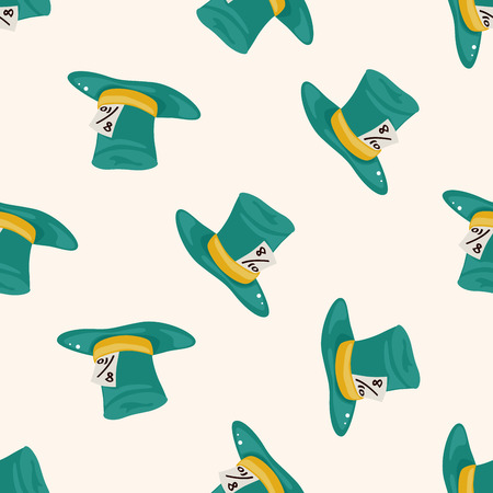 alice in wonderland , cartoon seamless pattern background Stock Photo