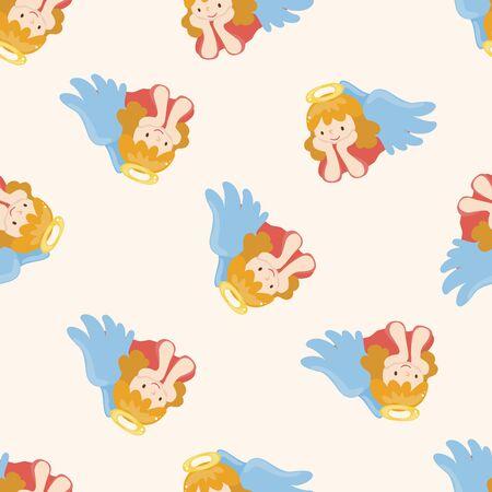 angel cartoon: angel , cartoon seamless pattern background