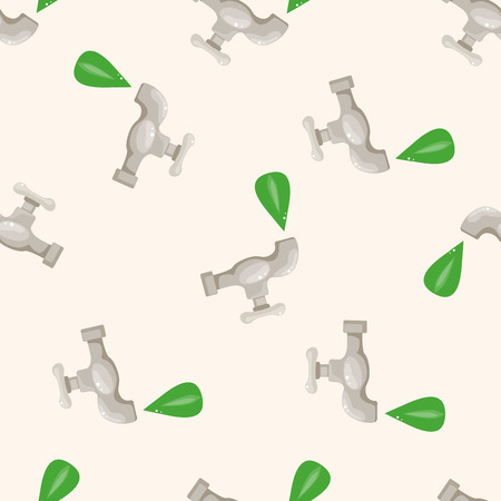 conserve: Environmental protection concept ; Conserve water,, cartoon seamless pattern background