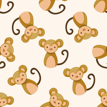 year of the ox: Chinese Zodiac monkey , cartoon seamless pattern background