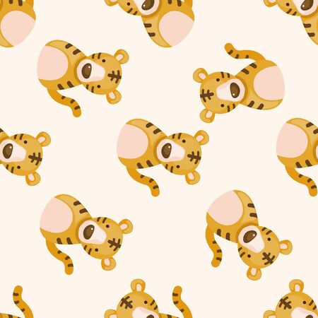snake calendar: Chinese Zodiac tiger , cartoon seamless pattern background Stock Photo