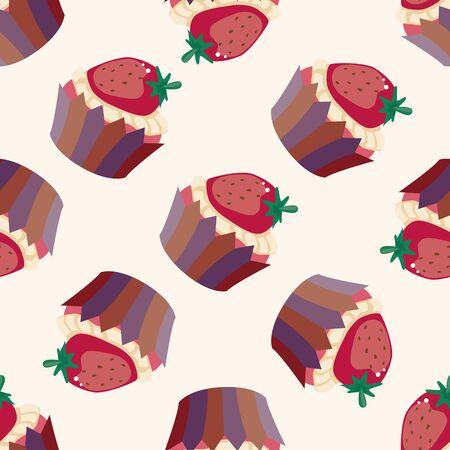 decorating cake , cartoon seamless pattern background photo