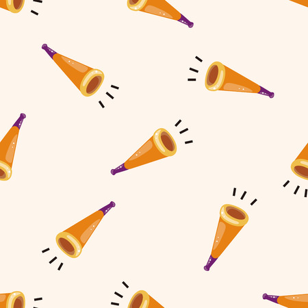 birthday horn , cartoon seamless pattern background photo